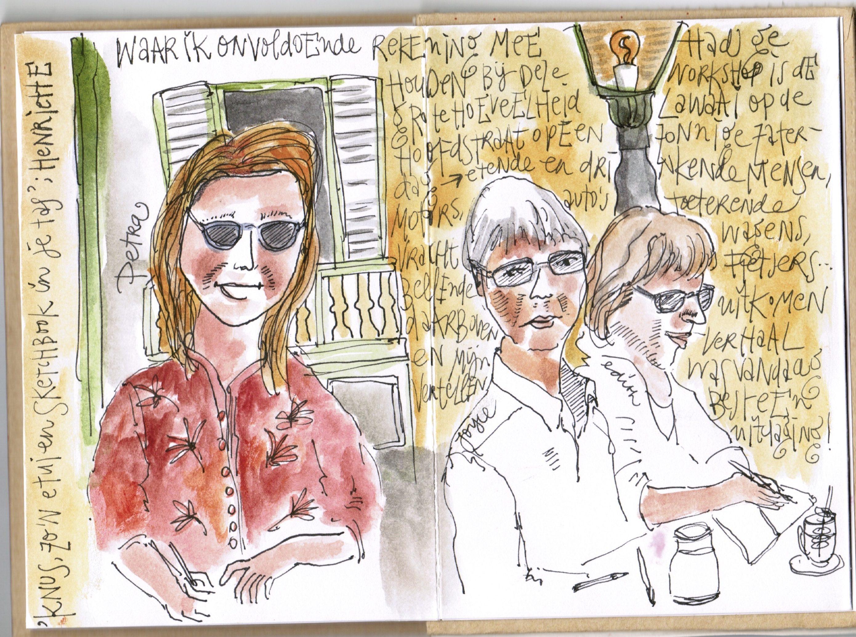 Workshop Urban Sketching bij Het Wapen van Rijsenburg